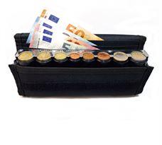 Εικόνα της EUROCASH 01 - Επαγγελματικό πορτοφόλι και κερματοθήκη εισπράκτορα 8 θέσεων με μεταλλική μπάρα συγκράτησης νοσμισμάτων