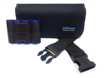 Picture of Eurocash PW8 Double - Επαγγελματικό τσαντάκι μέσης και μικρή μαύρη πλαστική κερματοθήκη 8 θέσεων διπλής όψεως