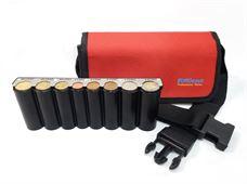 Picture of Eurocash PW 8 Red - Επαγγελματικό τσαντάκι μέσης και κερματοθήκη εισπράκτορα 8 θέσεων με μεταλλική μπάρα συγκράτησης νοσμισμάτων