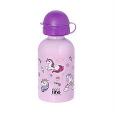 Εικόνα της Ανοξείδωτο παιδικό μπουκάλι ECOlife Unicorn 400ml